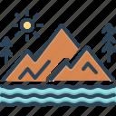 basin, bottomland, canyon, plaintiff, pursuer, vale, valley icon