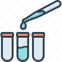 dropper, laboratory, observe, patholology, pharmaceutical, pipette, testing icon