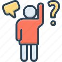 doubt, hesitance, inquiry, interpellation, query, question, qusere icon