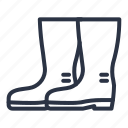 shoes, boots, boot, rain icon