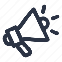 megaphone, promotion, promote icon