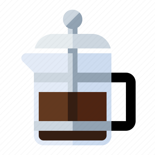 beans, breakfast, brew, coffee, french press, kitchen, percolate icon