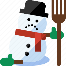 christmas, frosty, melting, snowman, spring, winter icon