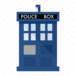doctor, police, space, tardis, time travel, whovian icon