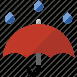 forecast, protection, rain, storm, umbrella, weather icon