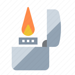 fire, flame, ignite, lighter, smoker, zippo icon