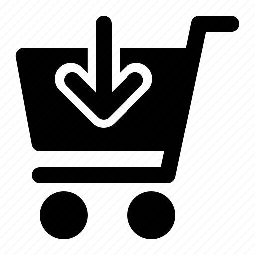 Arrow, cart, down, shopping, trolley icon - Download on Iconfinder