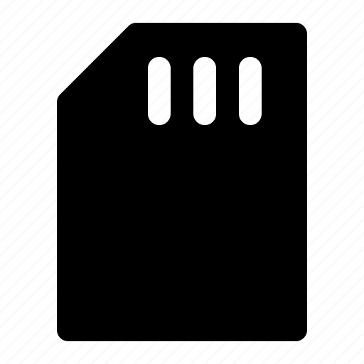 card, chip, gsm, memory, micro, sim icon