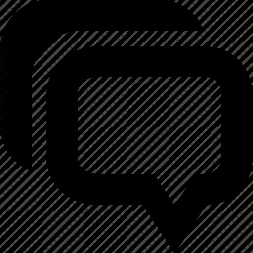 bublle, conversation, dialogue, message, speak, speech icon