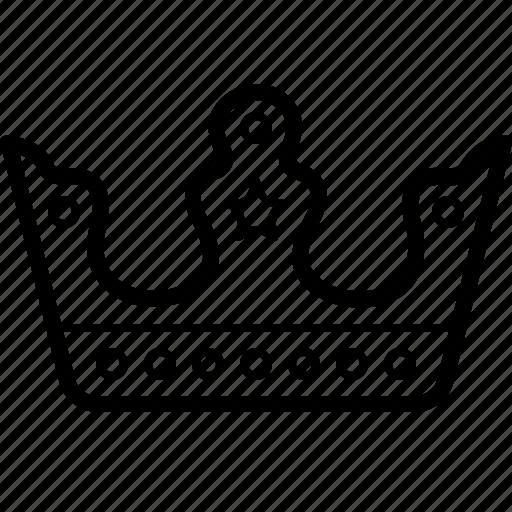 corona, crown, king, queen icon