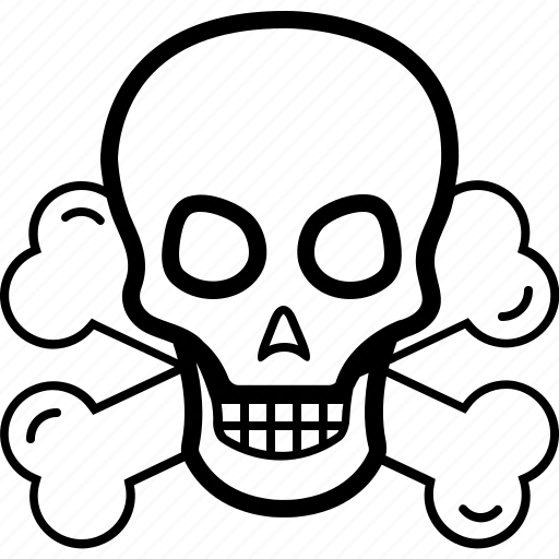 attention, danger, sign, skull icon