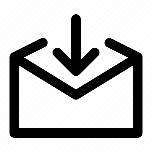 arrow, email, envelop, incoming, letter icon
