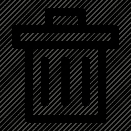 bin, delete, dustbin, remove, trashcan icon