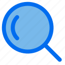 search, magnifying, glass, zoom, user