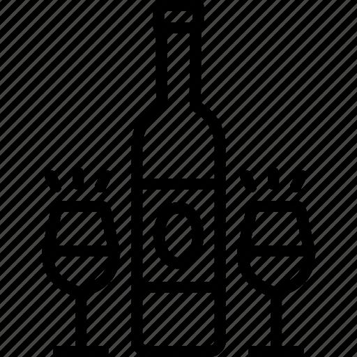 Alcohol, bar, bottle, drink, libation, liqueur, wine icon - Download on Iconfinder