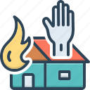 assist, fire, help, patronize, redound, relieve, save icon