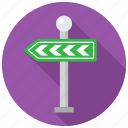 direction, navigation, road, way icon