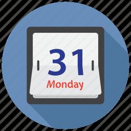 calendar, date, flip icon