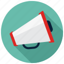 advertising, bullhorn, loudspeaker, megaphone icon