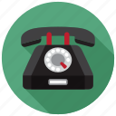 phone, dial, hotline, rotary icon