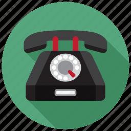 dial, hotline, phone, rotary icon