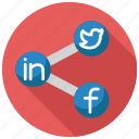 media, network, share, social icon
