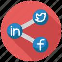 media, social, network, share