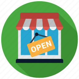 open, shop, store icon