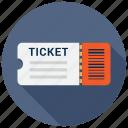 ticket, fare, cinema icon