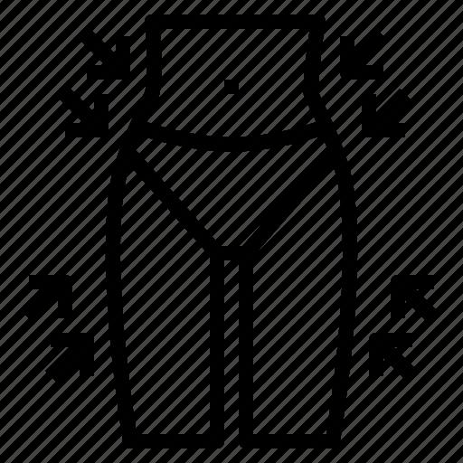 Reduce, slim, thin, waist icon - Download on Iconfinder