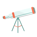 astronomy, telescope, view, zoom icon