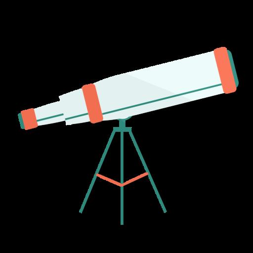 astronomy, telescope, view, zoom icon