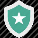 achievement, award, shield, star icon icon