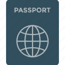 boarding, pass, passport, travel icon icon