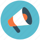 announcement, bullhorn, marketing, megaphone icon icon