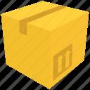 box, cardboard box, carton, open, packing icon icon