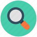 glass, magnifier, search, zoom icon icon