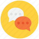 bubble, chat, chatting, comment, communication, message, talk icon icon