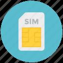 card, mobile, sim icon icon