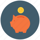 bank, coin, deposit, investment, money, piggy, savings icon icon