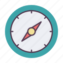 compass, direction, direction tool, safari icon icon