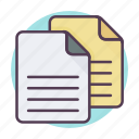 copy, data, document, documents, duplicate, files, files icon icon
