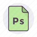 documents, file format, filetype, format, photoscript, ps icon icon