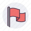 alert, banner, flag, important, surrender, tag, warning icon icon
