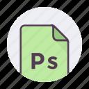 file format, photoscript, ps icon icon