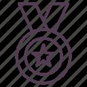award, gold, medal, star, winner icon icon