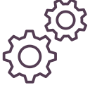 cog, gear, mechanism, setting icon icon