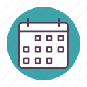 calander, date, month, numbers icon icon