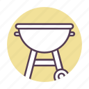 barbecue, cooking, cookout, grill, kitchen icon icon