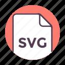 extension, file, file format, svg file icon icon